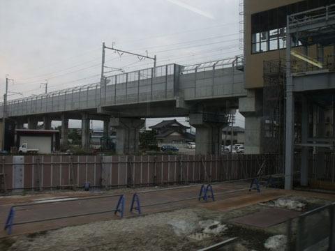 北陸新幹線の新駅が工事中