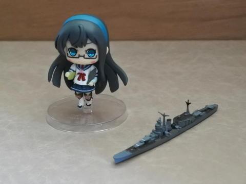 大淀のフィギュアと艦船