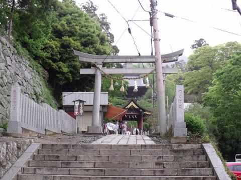 神社入り口の鳥居