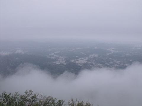 一瞬霧がなくなりました