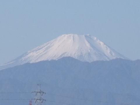 富士山がはっきりと見えました
