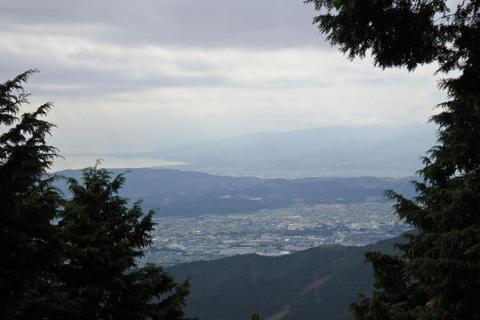 秦野・小田原市街が見える