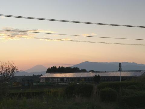 後日撮影した大山と富士山