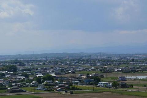 辛うじて富士山も見えた