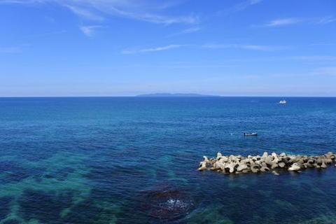 海面は非常にきれい