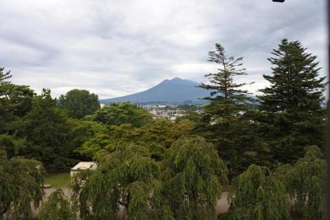 天守最上階から見た岩木山