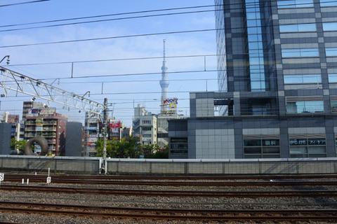 錦糸町駅で見えたスカイツリー