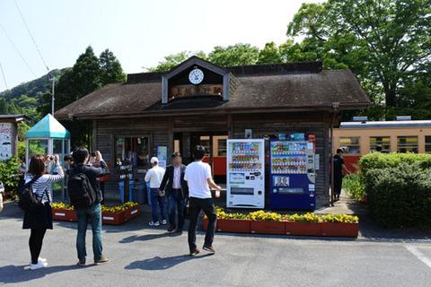 上総中野駅も観光客でいっぱい