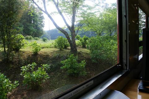 窓越しに外の風景を撮影してみた
