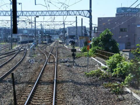 大曲駅に到着