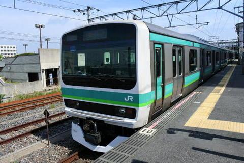 常磐快速線と共用のE231系