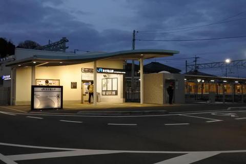 昨年3月に開業したばかりの駅