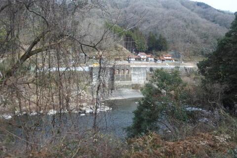 水力発電所の跡