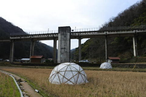 宇都井駅の全景
