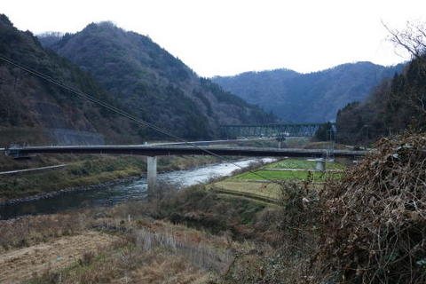 江の川を渡る鉄橋も見えました