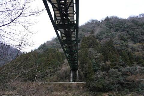 鉄橋の真下