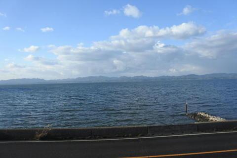 眼前に宍道湖