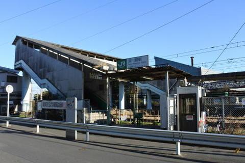 鶴見線のの浜川崎駅改札