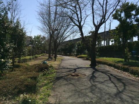 緑道は熊谷線の跡地