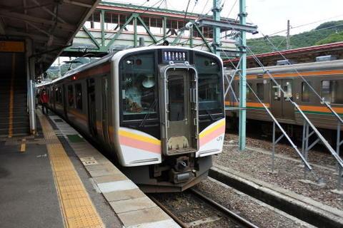 越後湯沢方面の電車に乗り換え
