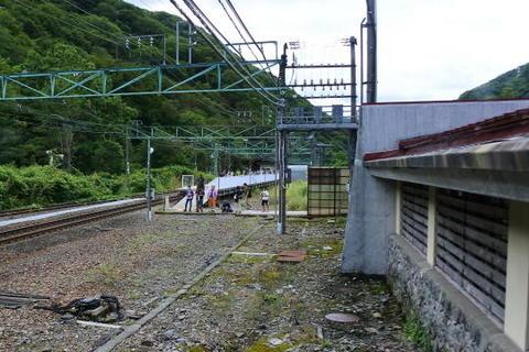 土合駅上り線のホーム