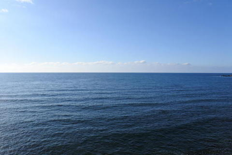 真正面に広がる日本海