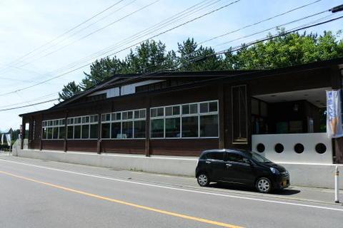 物産コーナーを併設している駅舎