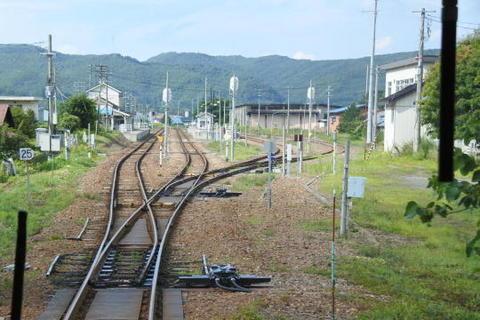 山間部の主要駅