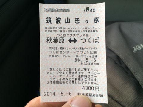 筑波山きっぷ